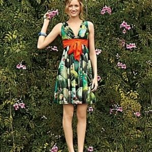 ANTHROPOLOGIE Eva Franco Oroya Dress 6 Green